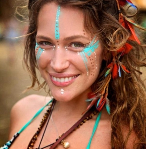 aztec-tribal-face-paint