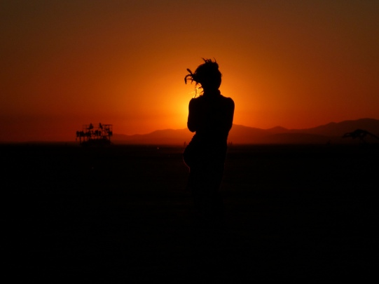 woman at sunrise
